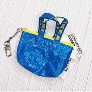 IKEA mini shopper bag charm, key charm, keychain